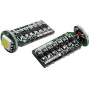 Bec auto SMD-LED T10, soclu W2.1x9.5d, 2 W, alb, Eufab