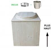 Toilette sèche - La Maxi Cube inox - rehaussée