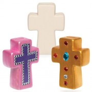 Cross Ceramic Coin Banks (Box of 2)