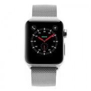 Apple Watch Series 3 Edelstahlgehäuse silber 38 mm mit Milanaise-Armband silber (GPS + Cellular) edelstahl silber