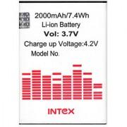 Replacement BATTERY FOR INTEX AQUA i5 HD BR2057AU (2000mAh)