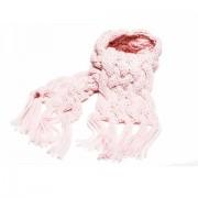 Fular tricotat cu franjuri fete