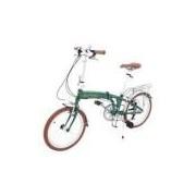 Bicicleta Dobrável Durban Sampa Pro 6 Marchas Aro 20 Verde