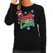 Bellatio Decorations Foute kersttrui / sweater Santa I have been good zwart dames
