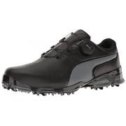 PUMA Men's Titantour Ignite Disc Golf-Shoes, Puma Black-Quiet Shade, 10 Medium US