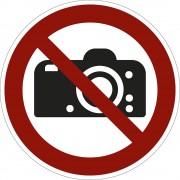 Verbotszeichen Fotografieren verboten, VE 10 Stk Folie, Ø 200 mm