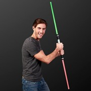 Deluxe Double Sided Light Up Saber With Color Change Lights & Sound Effects