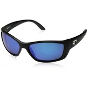 Costa Del Mar Fisch Polarized Iridium Oval Sunglasses Black 63.8 mm