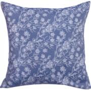 Fata de perna decorativa BonDia Model Syn 601 43 cm x 43 cm Bumbac Albastru/Alb Flori