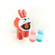Lokky Lighted Novelty Rabbit Bubble Gun Bubbles included Battery Operated(COLOR MAY VARY)