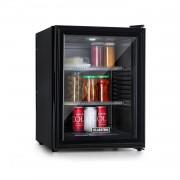Klarstein Brooklyn 42, хладилник, енергиен клас A, стъклена врата, черен интериор, черен (BCH-50BG Blk)
