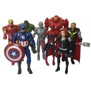 Marvel Avengers Infinity War Set of 8 Pcs. Black Widow, Iron Man Hulk Buster, Spiderman, Ultron, Hulk, Iron Man, Captain America, Thor 14-16 Cms. Action Figure