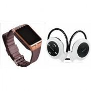Mirza DZ09 Smart Watch and Mini 503 Bluetooth Headphone for LG OPTIMUS VU(DZ09 Smart Watch With 4G Sim Card Memory Card  Mini 503 Bluetooth Headphone)