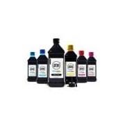 Kit 6 Tintas L800 Para Epson Bulk Ink Aton Black 1 Litro Cyan Magenta Yellow Cyan Light Magenta Ligh