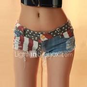 Dames Sexy Medium taille Micro-elastisch Shorts Jeans Broek
