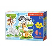 Puzzle 4 in 1 - Animale africane, 22 piese