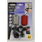 39 Cykel ljus m. 3 LED-ljus, set av 2 stk