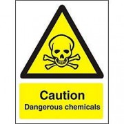 Unbranded Warning Sign Dangerous Chemicals Vinyl 30 x 20 cm