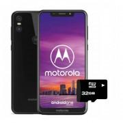 Motorola Moto One Dual Sim Liberado 64gb+4+MicroSD32gb GRATIS -negro