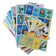 Loteria Mexicana Family Board Game - Set of 20 Jumbo Boards and Deck of 54 Cards