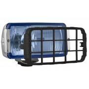 Proiector auto Wesem 12/24V bec H3 182x86x81mm geam albastru si carcasa cromata , cu lumina de drum , 1 buc. Kft Auto