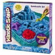 Set Nisip kinetic modelabil Kintetic Sand Spin Master cu forme si cutie Albastru