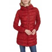 Desigual červený kabát Padded Letras - 42