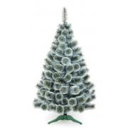 Brad artificial pin cu varfuri albe 180cm