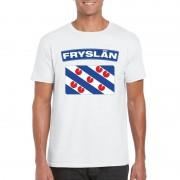 Bellatio Decorations T-shirt Friese vlag wit heren M - Feestshirts