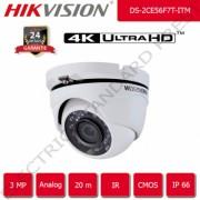 Camera de supraveghere HIKVISION analog 20 m IR UltraHD 3 Megapixel 1440p 2.8 mm interior/exterior