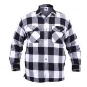 ROTHCO | Košile dřevorubecká zateplená kostkovaná BÍLÁ vel.XL