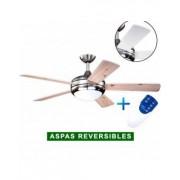 AireRyder Ventilador De Techo Con Luz Aireryder Fn75537 Ursa Blanco O Pino/ Níquel Satinado