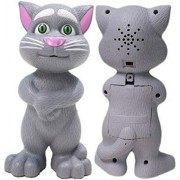 RADHE Talking Tom Cat with Recording, Music, Story and Touch Functionality, Wonderful Voice, Stories and Songs (Grey)