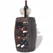 vidaXL Vinställ tunnformat 8 flaskor brun