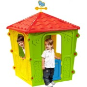 starplay 56-560 Casa Gioco Casetta Per Bambini Da Giardino Esterno Cm 108x108x152 H Colore Giallo / Verde - Country - 56-560