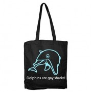 Dolpins Are Gay Sharks Tote Bag, Tote