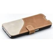 Husa Flip Tellur Samsung Galaxy S6 G920 Piele Maro-Alb