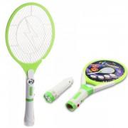 Paleta Electrica Anti Insecte cu Acumulator si Lanterna