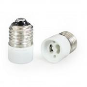[lux.pro]® 10 x Adaptador / conversor de calidad para bombillas de E27 a GU10
