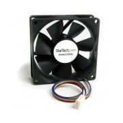 StarTech.com Ventilador Fan para Chasis Caja de Computadora PC Torre, 80x25mm, 2500RPM, Negro