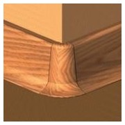 PBE505.164-S4 - Set 4 bucati piese colt exterior culoare cires inchis plinta PBC505