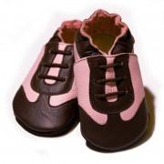 Pantofi cu talpa moale Liliputi Pink Sport
