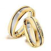 Zlatý snubní prsten GEMS EXCELENT, 501_502 z bílého a žlutého zlata