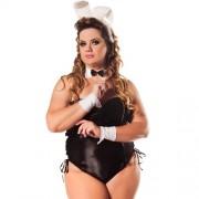 Fantasia Coelha Linha Requinte Plus Size Hot Flowers - ShopSensual