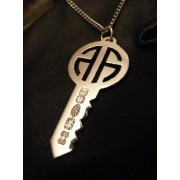 Alick Alexander Round Key Pendant Jewelry Silver