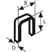 Bosch spajalica sa uskim leđima tip 55 6 x 1,08 x 14 mm - 1609200371