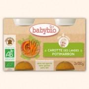 Babybio Petits Pots Carotte des Landes et Potimarron - 2 x 130g - Babybio