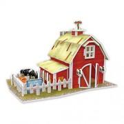 Cubicfun 3D Puzzle - Farm America Flavor - W3123H