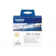 Brother Consumible Original Brother DK11204 Etiquetas precortadas multipropósito (papel térmico). 400 etiquetas blancas de 17 x 54 mmpara impresoras...
