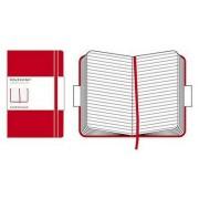 Moleskine Notebook gouvernés grand rouge
